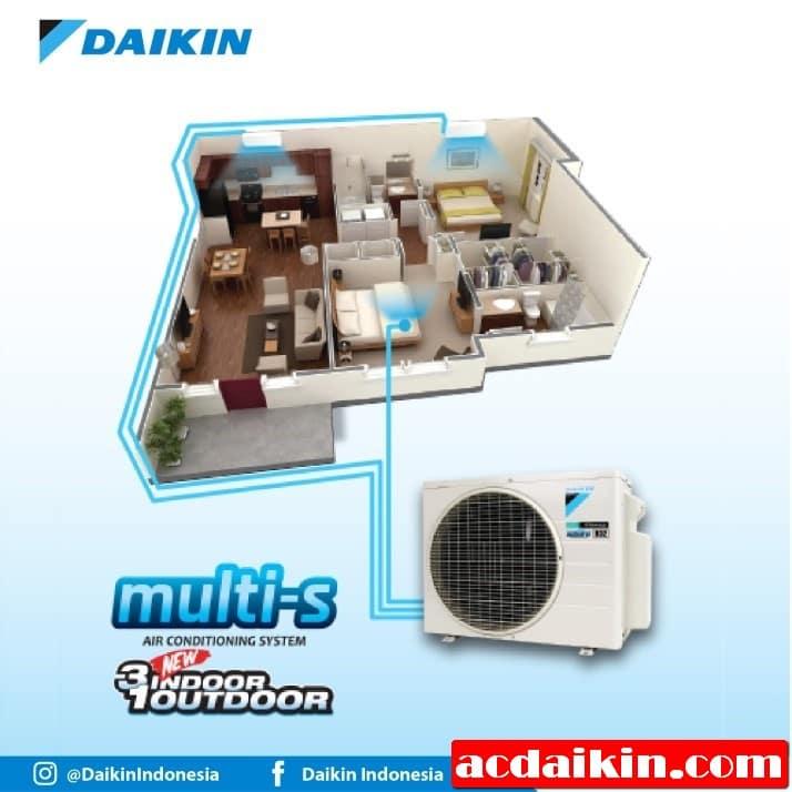 AC Daikin Multi-S 3 Connection